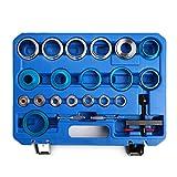 21PCS Crank Bearing Camshaft Seal Remover and Installer Kit Auto Repair Tool Crankshaft Oil Seal Tool