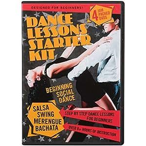 Dance Lessons Starter Kit - Swing Dancing, Salsa Classes, Merengue & Bachata (4 DVDs)