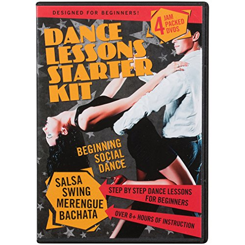 Latin Dances Dvd - Dance Lessons Starter Kit - Swing Dancing, Salsa Classes, Merengue & Bachata (4 DVDs)