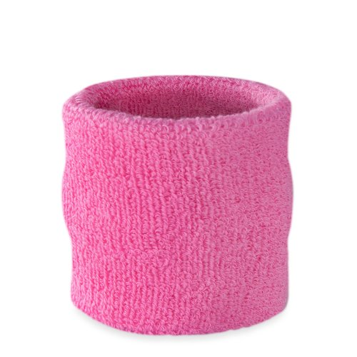 (Suddora Wrist Sweatband - Athletic Cotton Terry Cloth Wristband for Sports (Pink)(1 Piece))