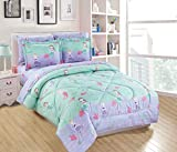 Purple and Teal Twin Bedding Mk Home 5pc Twin Size Comforter Set for Girls Mermaids Fishes Aqua Lavender Pink New