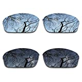 #5: 2 Pair Polarized Lens Replacement for Oakley Half Wire 2.0 Black&Silver Chrome