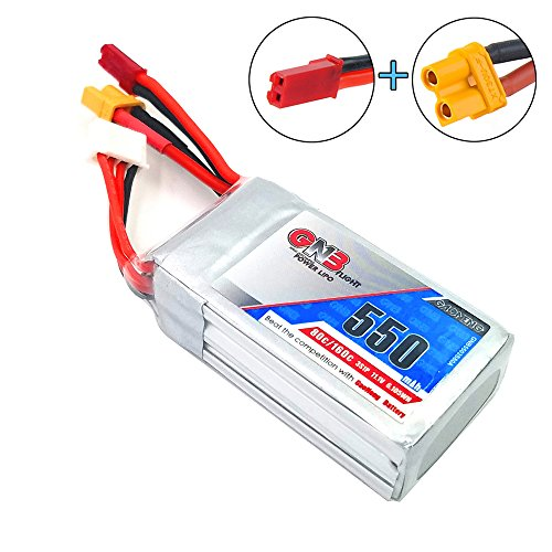 GNB 550mAh LiPo Battery 3S 80C 11.1V XT30 JST Connector for FPV Racing Drone