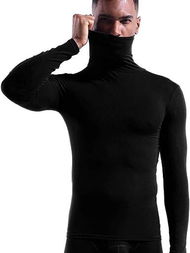 Camisetas térmicas para Hombre Manga Larga Invierno Cuello Alto Cómodo Tops Ropa Interior Térmica para Trabajo Deporte: Amazon.es: Ropa y accesorios