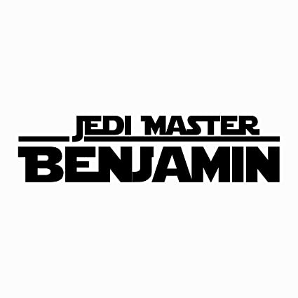 Jedi Master Name Decal Star Wars Decal Quote Vinyl Wall Decals Sticker  Custom Personalized Name Decor Kids Teens Boys Room Nursery Art x101
