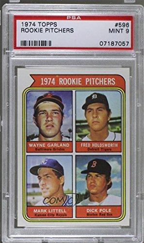 Fred Holdsworth; Mark Littell; Dick Pole; Wayne Garland Graded PSA 9 MINT (Baseball Card) 1974 Topps - [Base] (Garland Pole)