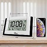 WallarGe Digital Wall Clock,Autoset Atomic Clock