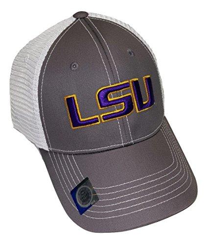 万一に備えて暴露運営LSU Tigers調節可能グレーキャップメッシュバック帽子