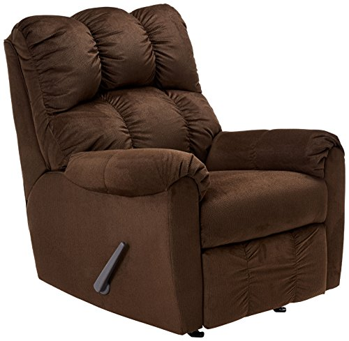 Chocolate Rocker Recliner - Ashley Furniture Signature Design - Raulo Rocker Recliner - 1 Pull Manual Reclining Sofa - Chocolate
