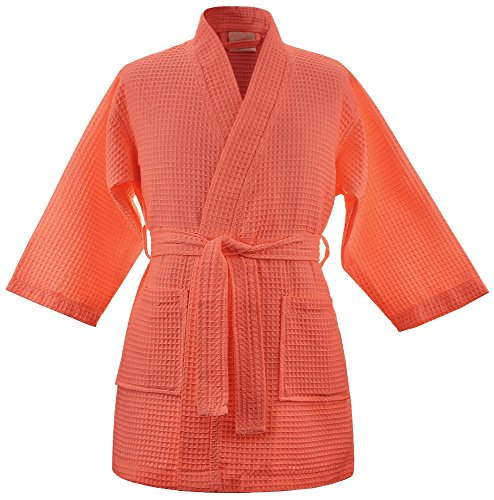 Kids Waffle Kimono Party Robe product image