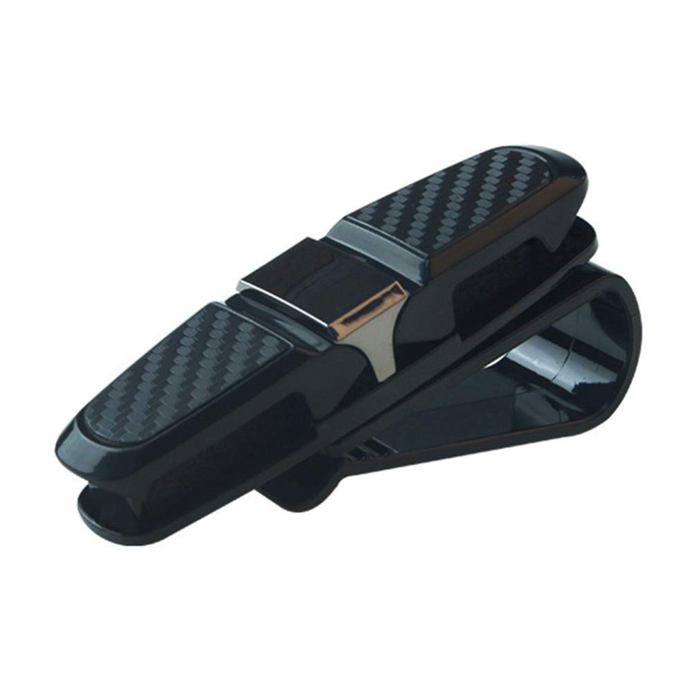 WBXHZYDGJ Gray Universal Fastener Clip Glasses Clip Ticket Holder Card ABS car Glasses Box car Sun Visor Sunglasses Frame