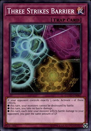 2017 Yu-Gi-Oh Code of the Duelist Unlimited #COTDEN067 Three Strikes Barrier C