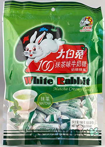 Rice Green Paper - White Rabbit Green Tea Matcha Milk Creamy Candy 5.3 oz