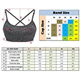 Rabrgab Women's Sports Bras Adjustable Strap and