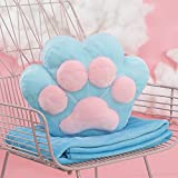 HOMEE the Cushion Lovely Creative Cartoon Blankets Girls Winter Plush Duvet Pillow with Two Three-In-One Warm Hand Over-,3832Cm, Blue,Blue