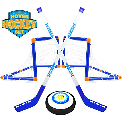 TIKTOK Hover Hockey Set with 2 Goals Indoor Outdoor Training Toys Sports -