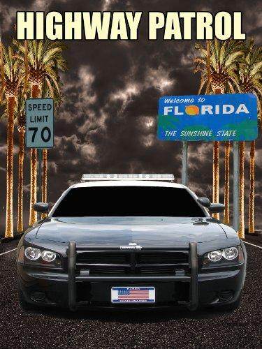Florida Highway Patrol Poster Police Poster Police Cruiser 18x24 (FHPV1) (Highway Patrol Police Patch)