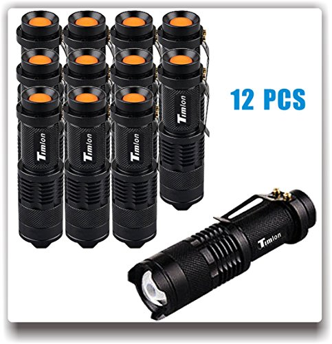 Timlon 12 Pack Tactical Flashlight Water Resist 7W 350lm Ult
