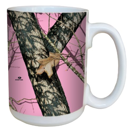 Tree-Free Greetings 79618 Pink Break Up by Mossy Oak Camo 15-Ounce Ceramic Mug with Full-Sized Handle, Multicolored