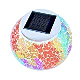 SZYT LED colorful lights glass jar mosaic solar light garden decoration
