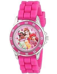 Disney Kids 'pn1048profesor de tiempo reloj con banda de goma de color rosa
