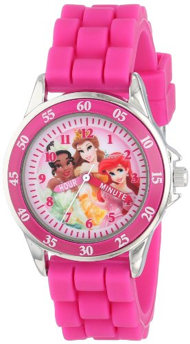 (Disney Kids' PN1048 Time Teacher Watch with Pink Rubber Band)