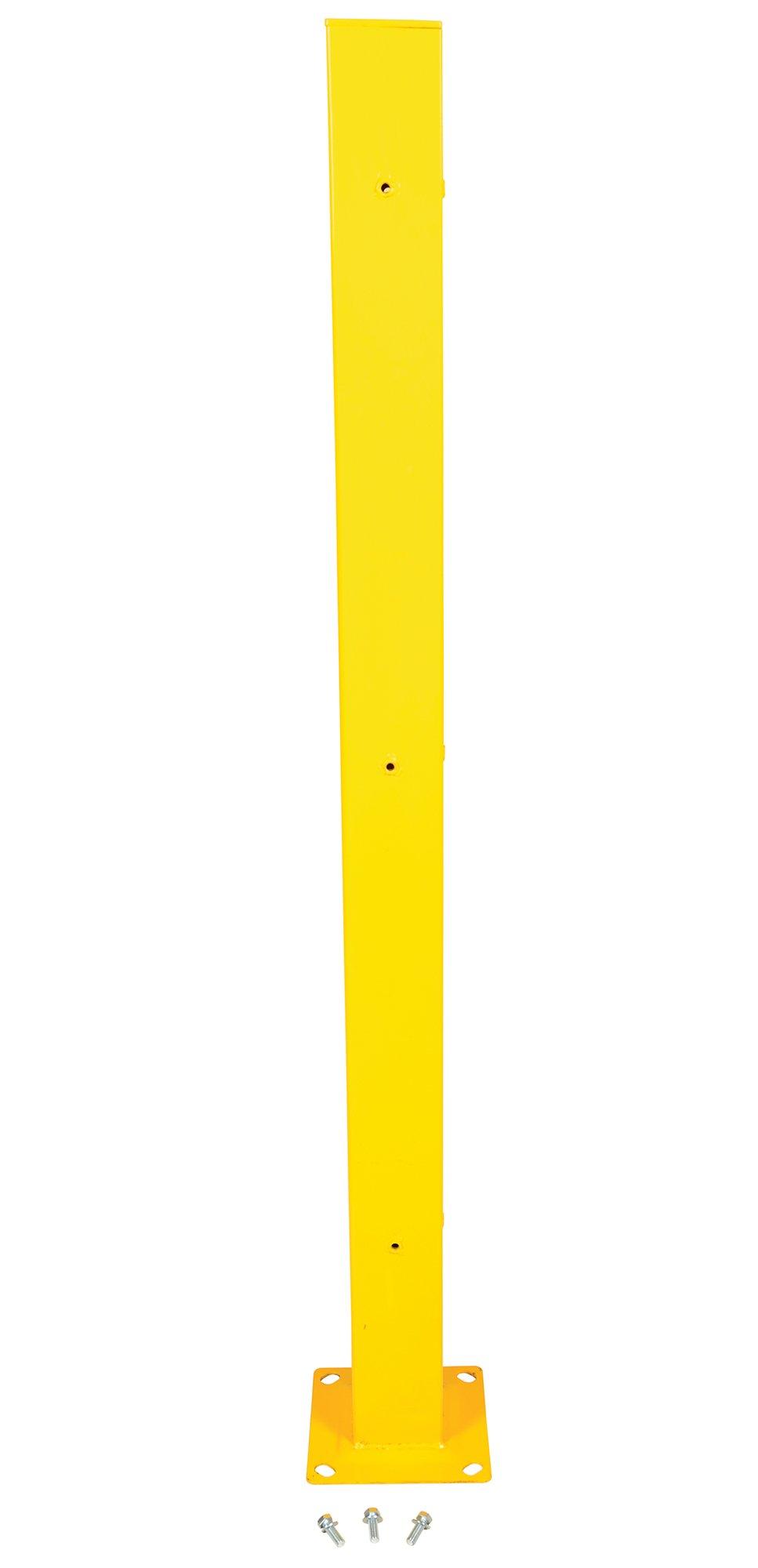 Vestil Tubular Post for Structural Guard Rail - 72 Inch H, Model STGR-TP-72DI