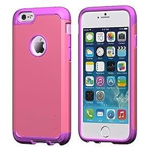 Caso del iPhone 6, LUVVITT ® iPhone ARMOR ULTRA 6 Caso / Mejor iPhone 6 Caso de 4,7 pulgadas de pantalla Aire |? Choque doble capa absorbente cubierta de la caja 6 iPhone rosa (no se ajusta a iPhone 5 5S 5C 4 4s o pantalla del iPhone 6 Plus de 5.5 pulgadas) - Purple / Pink Color: p?rpura / rosa, modelo:
