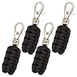 Paracord Zipper Pulls 4 Pack - Variety of Colors | Metal...