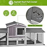 Rabbit Hutch Indoor Outdoor Bunny Cage with Large