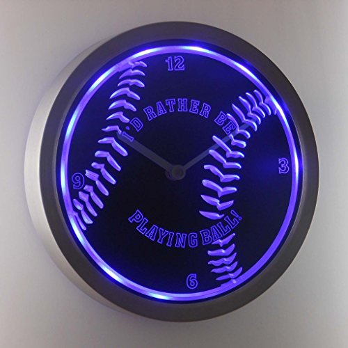 - nc0913-b Baseball Sport Neon Sign LED Wall Clock