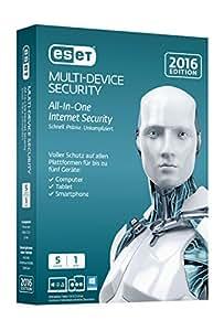 Eset Multi-Device Security 2016, 5U, 1Y - Seguridad y antivirus (5U, 1Y, DEU, Android)