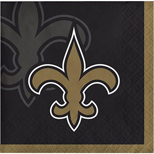 New Orleans Saints Beverage Napkins, 48 Count ()