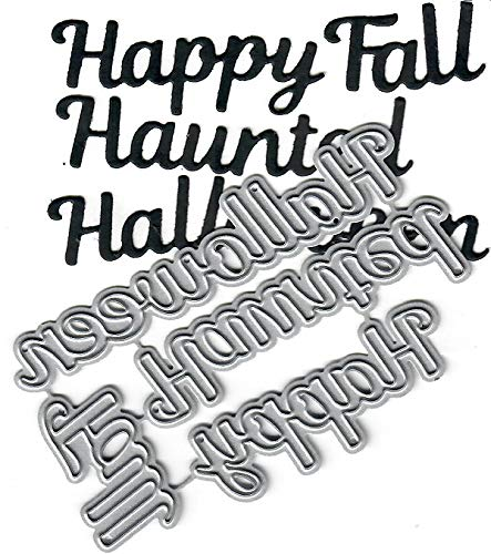 Dies to die for Metal Craft Cutting die - Happy Halloween Haunted Fall Word