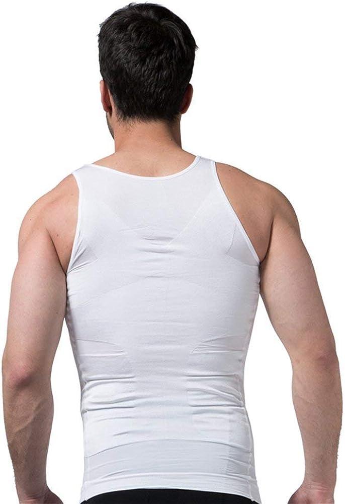 Ropa Interior de Efecto Adelgazante El/ástico y Formar para el Vientre y la P/érdida de Peso y Grasa Chaleco para Hombre Previene el Dolor de Espalda y Lumbares Ducomi Bodyslim