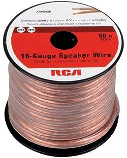 Amazon amazonbasics 16 gauge speaker wire 50 feet home audio rca ah1650sr 50 feet 16 gauge speaker wire greentooth Gallery