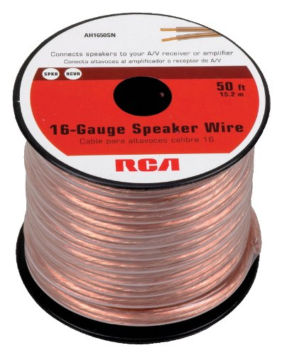 Amazon rca ah1650sr 50 feet 16 gauge speaker wire home audio rca ah1650sr 50 feet 16 gauge speaker wire keyboard keysfo Choice Image