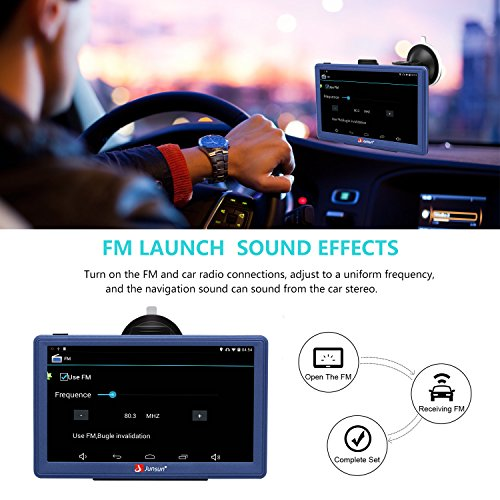 GPS Navigation for Car 7 Inch Android GPS Navigation with Bluetooth Built-in WiFi FM 3D Sat nav Navigator with Lifetime Maps by junsun (Image #2)