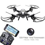 Holy Stone HS200 FPV Drone with 720P HD Live Video Wifi Camera 2.4GHz 4CH 6-Axis Gyro RC Quadcopter with Altitude Hold, Gravity Sensor and Headless Mode Function RTF, Black