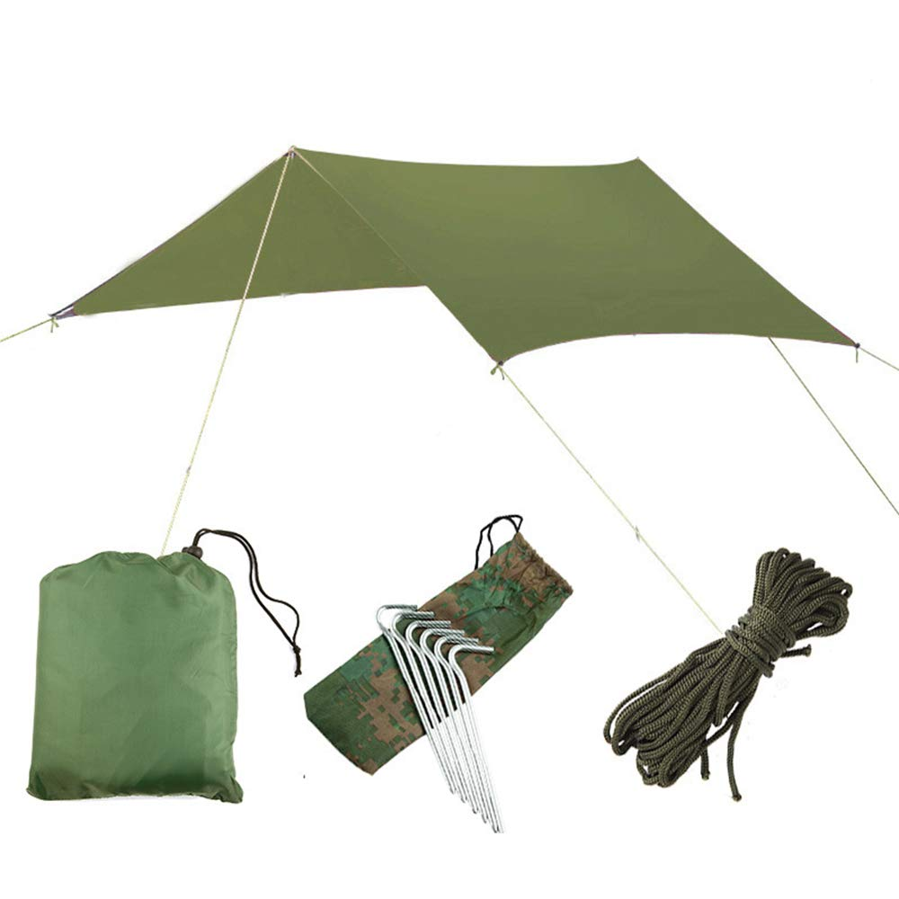 TechGo Multifunctional Canopy Lightweight Portable Hammock Tent Beach Blanket Beach Camping Hiking Picnic Fishing, etc. (Green)
