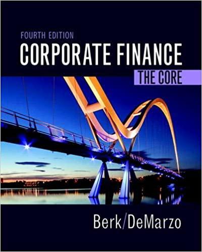 Corporate Finance: The Core by Berk/DeMarzo
