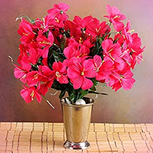 Inna-Wholesale Art Crafts New 6 Fuchsia Bushes Silk Mini PRIMROSES Decorating Flowers Bouquets Decorations Sale - Perfect for Any Wedding, Special Occasion or Home Office D?cor 113