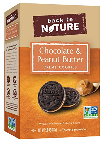 Back to Nature Non-GMO Cookies, Chocolate & Peanut Butter Creme, 9.6 Ounce