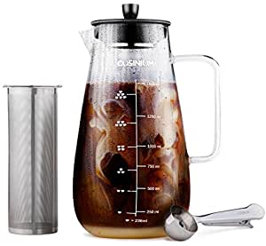 Amazon.com: Large Cold Brew Coffee Maker - 1.5 Quart Iced ...
