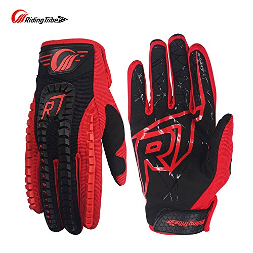 Touch Screen Racing Motocross Gloves Luvas Guantes motocross motorbike luvas Motorcycle Gloves (L, RED)