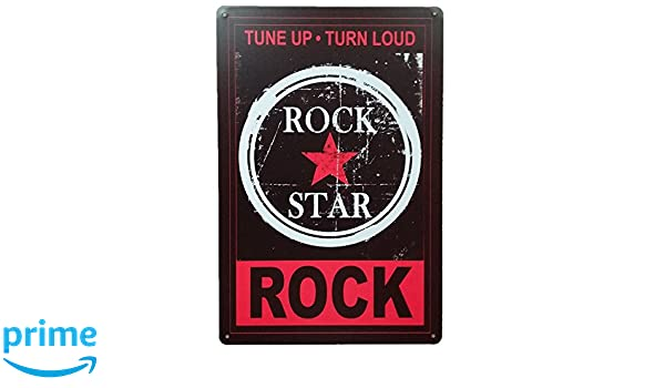 Carteles y Placas Decorativas Vintage metalicas de Musica Rock. Chapas Bar Pared: Amazon.es: Hogar