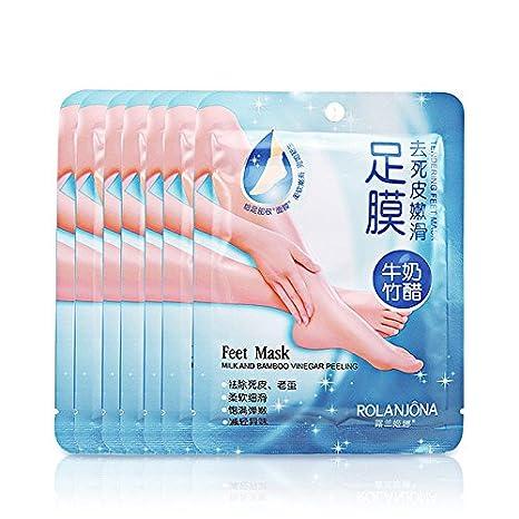 iumer leche bambú vinagre eliminar piel muerta de pies piel suave exfoliante pies cuidado: Amazon.es: Juguetes y juegos