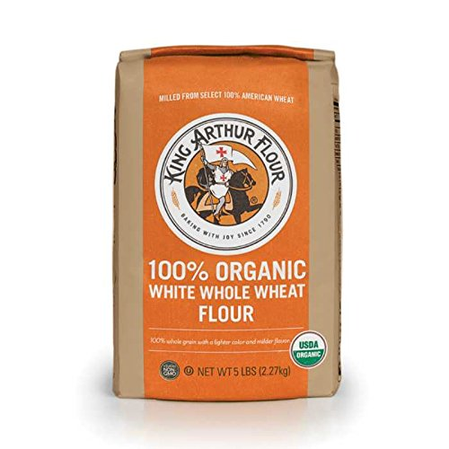 King Arthur Flour 100% Organic White Whole Wheat Flour, 5 Pound (Pack of 6)
