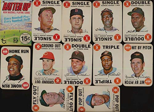 1968 Topps Game Baseball EXMT avg complete Batter Up Set with Box - Game 1968 Topps