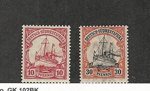 German South West Africa, Postage Stamp, 28, 30 Mint NH, 1906-11